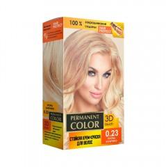 Крем-фарба Permanent Color тон блонд капучино №0.23 Аромат