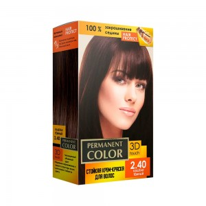 Крем-фарба Permanent Color тон каштан темний №2.40 Аромат