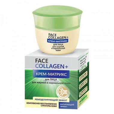 Крем-матрикс для лица (жирная и нормальная кожа), Face collagen Белита
