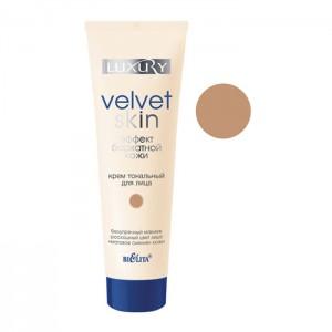 Крем тональний для обличчя Ефект оксамитової шкіри тон 04 пісочно-бежевий, Luxury Беліта