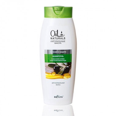 Шампунь з маслами оливи і кісточок винограду Живлення і Захист для нормального волосся, Oil Naturals Беліта
