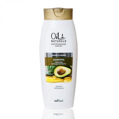 Шампунь з маслами авокадо і кунжуту Обєм і Сяйво для всіх типів волосся, Oil Naturals Беліта