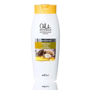 Крем-гель для душу з маслами Аргана і жожоба Ніжна турбота, Oil Naturals Беліта