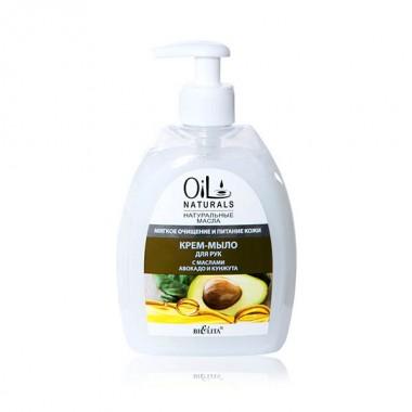 Крем-мило для рук з маслами авокадо і кунжуту Мяке очищення і Живлення шкіри, Oil Naturals Беліта