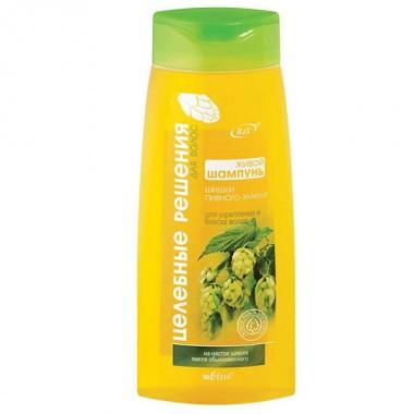 Живой шампунь для укрепления и блеска волос Шишки пивного хмеля Целебные решения для волос Белита