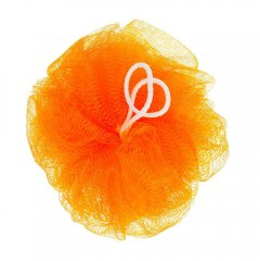 Мочалка для душа Бантик (оранж) 50г