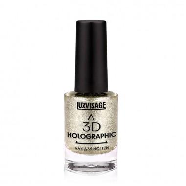 Лак для нігтів 3D Holographic 702 тон Космічна платина Люкс Візаж