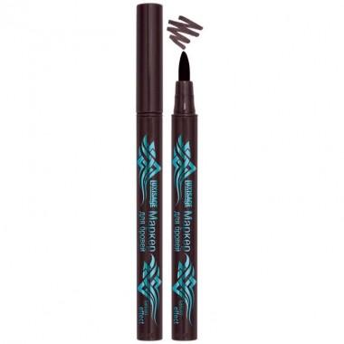Маркер для брів tatoo effect, чорно-коричневий, Люкс Візаж