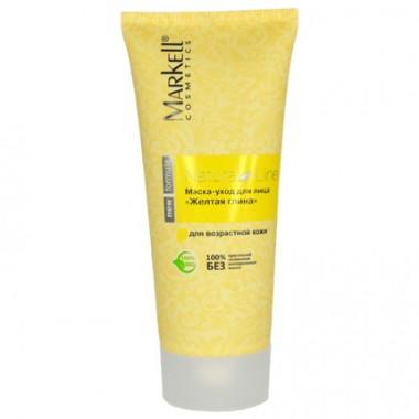 Маска-догляд для обличчя Жовта глина, NaturalLine Маркелл