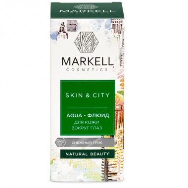 Aqua-флюид для кожи вокруг глаз снежный гриб Skin&City