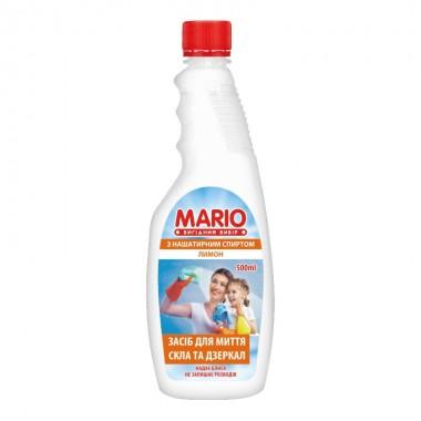Средство для мытья стеклянных поверхностей Лимон запаска 500 мл, Маротех