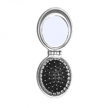 Заказать Щітка масажна PM-2063 овал складна с дзеркалом 8,5 см, QPI недорого