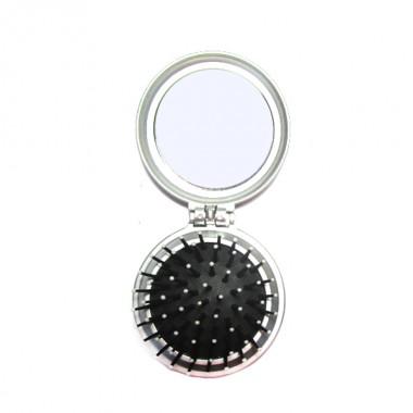 Заказать Щітка масажна PM-2064 кругла складна с дзеркалом 7 см, QPI недорого