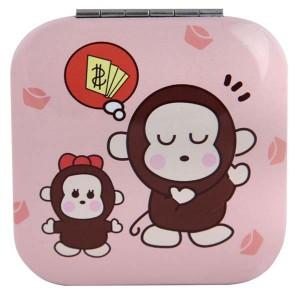Зеркало квадратное розовое М1030-1, Рапира