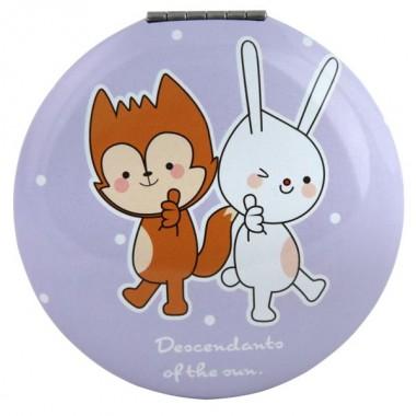 Зеркало кругле фіолетове М1045-2, Рапіра