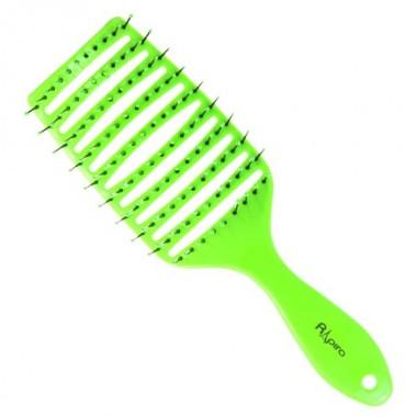 Щетка широкая продувная плоская ручка зеленая С0262-3 Рапира