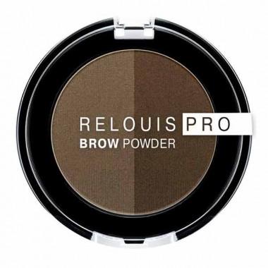 Тіні для брів Relouis Pro Brow Powder тон 02 Taupe