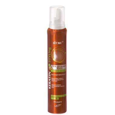 Пена для укладки волос с жидким кератином супер сильной фиксации (аэрозоль), Keratin Styling Витекс