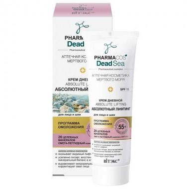 Заказать Крем дневной 55+ Абсолютный лифтинг для лица и шеи SPF 15 Pharmacos Dead Sea недорого