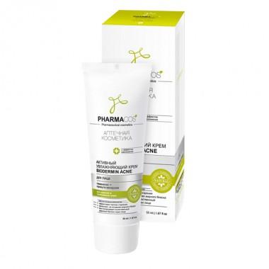 Активний зволожуючий крем Biodermin Acne для обличчя, Pharmacos Вітекс