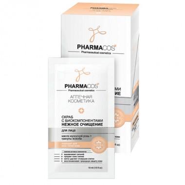 Скраб для обличчя з біокомпонентами Ніжне очищення, Pharmacos Вітекс