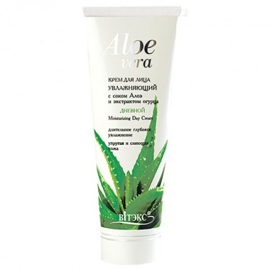 Крем денний для обличчя Зволожуючий з соком алое і екстрактом огірка Aloe vera Вітекс