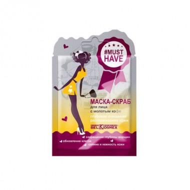 Заказать Маска-скраб для обличчя з меленою кавою глибоке очищення розгладження шкіри Musthave Белкосмекс недорого