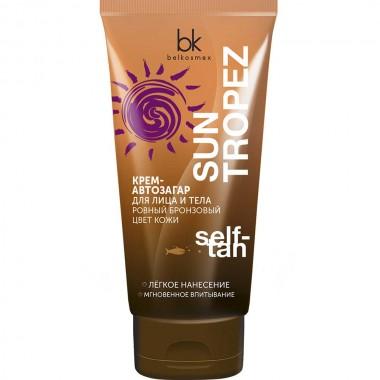 Крем-автозагар для обличчя і тіла рівний бронзовий колір шкіри Sun Tropez