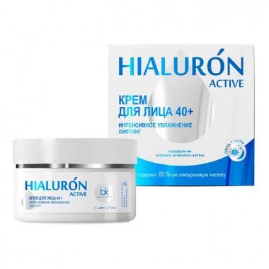 Крем для обличчя 40+ інтенсивне зволоження ліфтинг Hialuron Active Белкосмекс