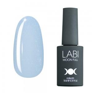 Цветная база для ногтей Labi №402 нежно-голубая с шиммером