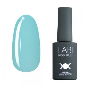 Цветная база для ногтей Labi №407 бледно-голубая