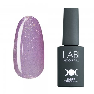 Гель-лак для нігтів Labi Glitter №G03 світло-бузковий з золотистим шимером