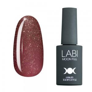 Гель-лак для нігтів Labi Glitter №G06 темно-рожевий вінтажний з дрібним шимером