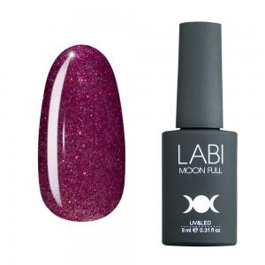 Гель-лак для нігтів Labi Glitter №G08 бордово-рожевий шимерний