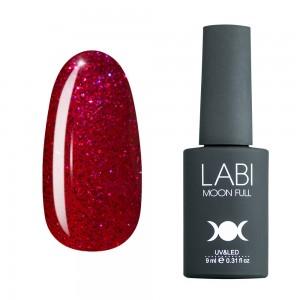 Гель-лак для нігтів Labi Glitter №G09 вишневий з блискітками