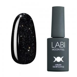 Гель-лак для ногтей Labi Glitter №G14 черно-зеленый с серебристым шиммером