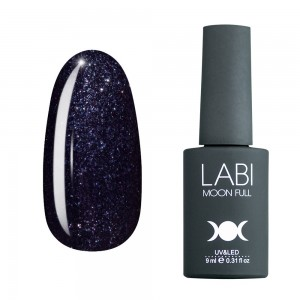 Гель-лак для ногтей Labi Glitter №G15 черный с блестками