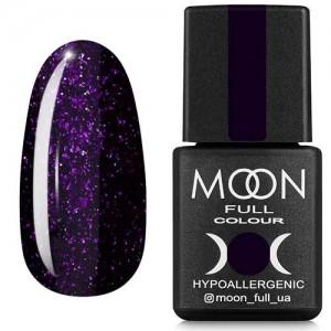 Гель-лак Moon Full Diamond №12 фиолетовый глиттер