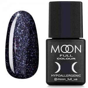 Гель-лак Moon Full Diamond №13 серебристо-черничный глиттер