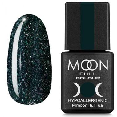 Гель-лак Moon Full Diamond №15 приглушений темно-зелений глітер
