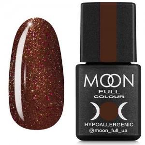 Гель-лак Moon Full Diamond №18 горіховий з рожевим шиммером