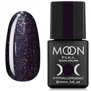 Гель-лак Moon Full Diamond №22 карбоново-синий с разноцветным шиммером
