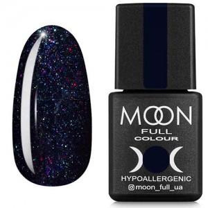 Гель-лак Moon Full Diamond №23 чернично-синий с разноцветным шиммером