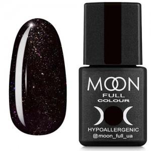 Гель-лак Moon Full Diamond №25 черный с разноцветным глиттером