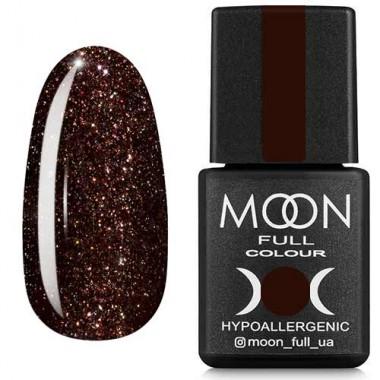 Гель-лак Moon Full Diamond №09 шоколадний з сріблястим глітером