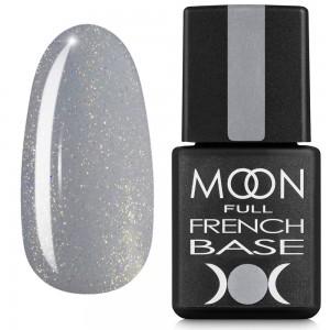Гель-лак MOON Full Baza French 8 мл №14 серый с шиммером