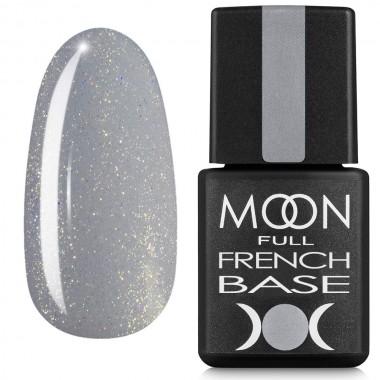 Гель-лак Full MOON Baza French 8 мл №14 сірий з шимером