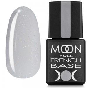 Гель-лак MOON Full Baza French 8 мл №15 светло-серый с шиммером