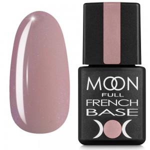 Гель-лак MOON Full Baza French 8 мл №16 розовый с мелким шиммером