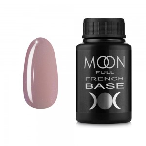 Гель-лак MOON Full Baza French 30 мл №16 розовый с мелким шиммером